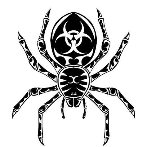 tribal biohazard tattoo designs tribal tarantula design