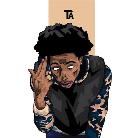 wallpaper cartoon man w i z partynextdoorjoey badass trilishh art st trill