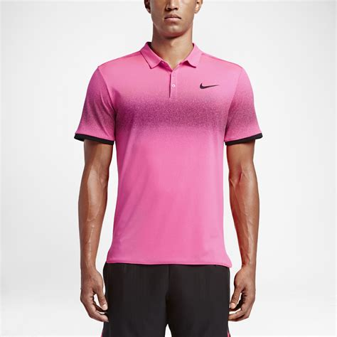 Sweaterjakethoodie Nike Just Do It Keren lyst nike court roger federer advantage s tennis polo shirt in pink for