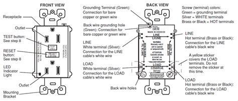 gfci load side wiring diagram wiring diagrams image free