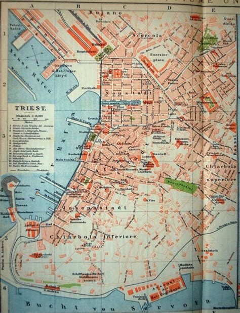 triest map trieste italy map images
