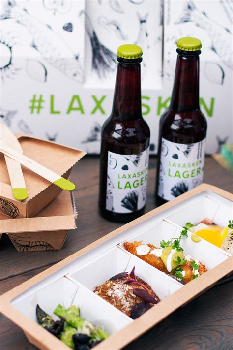 high quality food laxasken food packaging design on behance