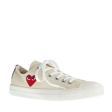 converse sneakers for j crew unisex play comme des gar 231 ons converse sneakers in