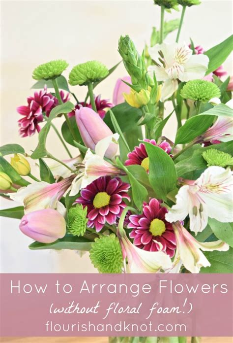 flowers without vase how to arrange flowers in a vase without floral foam