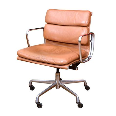 charles eames leather soft pad desk chair at 1stdibs