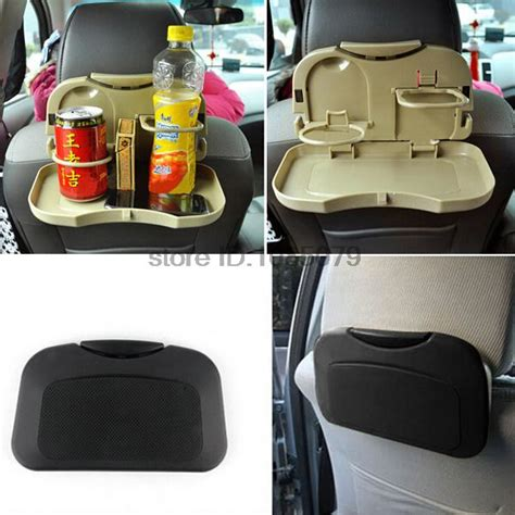Zell Car Food And Drink Tray Beige accessories auto car back seat folding table drink food
