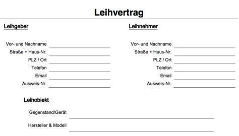 Muster Leihvertrag Schweiz Kfz Kaufvertragsformular Revisorenbericht Verein Vorlage