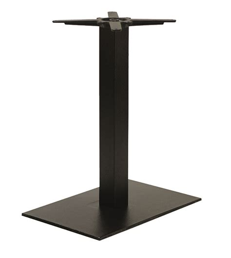 forza rectangular pedestal table base dining height