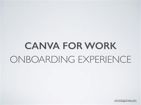 canva work onboarding experience canva for work