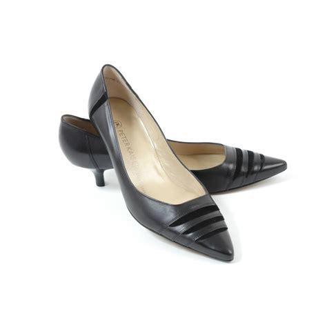 kittens shoes duana kitten heel court shoes in black kitten heel