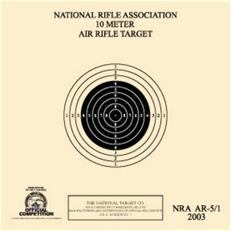 printable competition targets 10 meter air pistol online competition