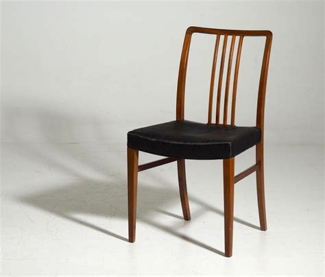 mahogany horsehair dining chairs 1950s set of 12 for
