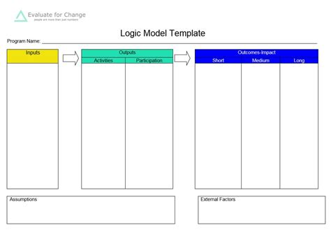 5 Blank Logic Model Templates Formats Exles In Word Excel Logic Model Template Word