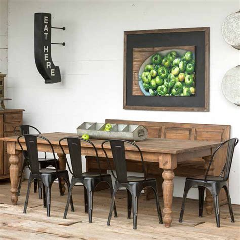 park hill home decor park hill collection old pine farm table nb236