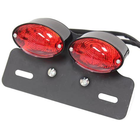 rear brake light ryde led black double motorcycle bike tail brake indicator