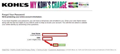 kohls credit card make a payment kohl s credit card login make a payment creditspot