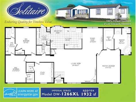 solitaire mobile homes floor plans solitaire homes single wide floor plans floor matttroy