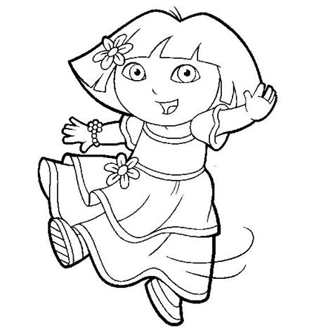 free coloring pictures dora explorer dora the explorer coloring pages coloringpages1001 com