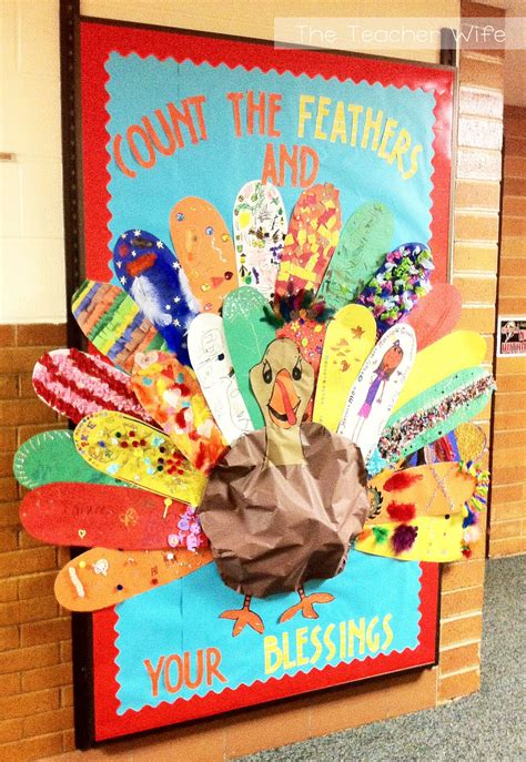 Count your blessings thanksgiving bulletin board idea