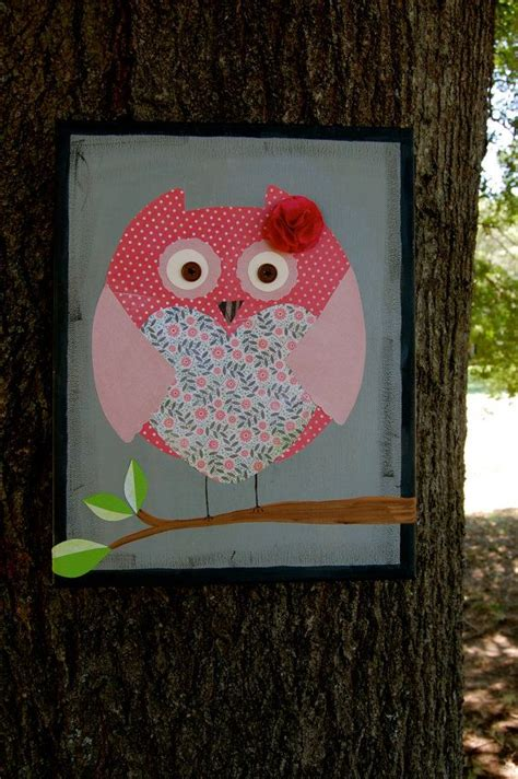 Owl Decoupage - owl canvas decoupage ideas