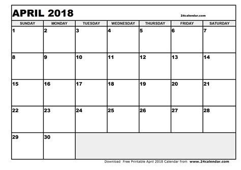 printable calendar 2018 april blank april 2018 calendar in printable format