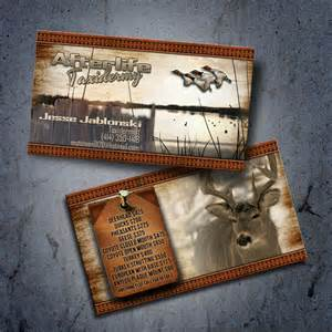 taxidermy business cards business card design outdoor advertising and design