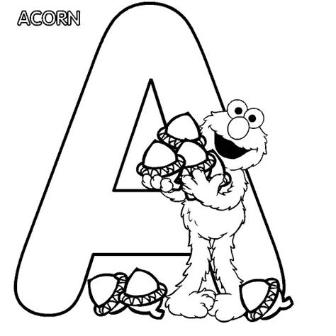 elmo coloring pages alphabet elmo coloring page elmo alphabet a all kids network