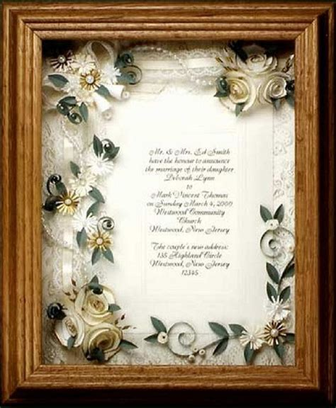 framed wedding invitation wedding gift framed ivory wedding