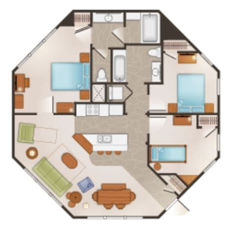 treehouse villa floor plan treehouse villas at walt disney world s saratoga springs