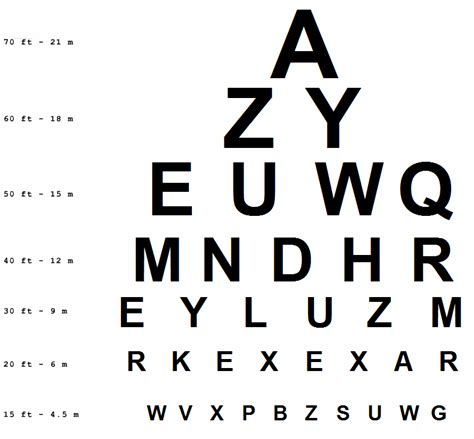 printable ca dmv eye chart vision test chart