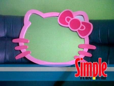 Cermin Hello Besar simple meja belajar anak cermin hello