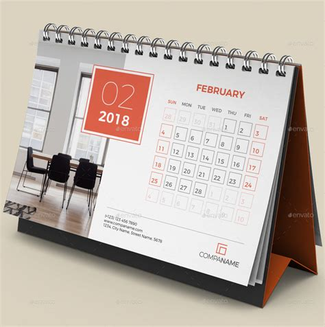 Desk Calendar 2018 By Bourjart Graphicriver