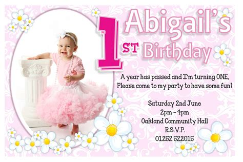 1st Birthday Invitation Card Template Free by 1st Birthday Invitations Birthday Invitations