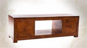 meuble tv moderne et massif en bois massif de sheesham