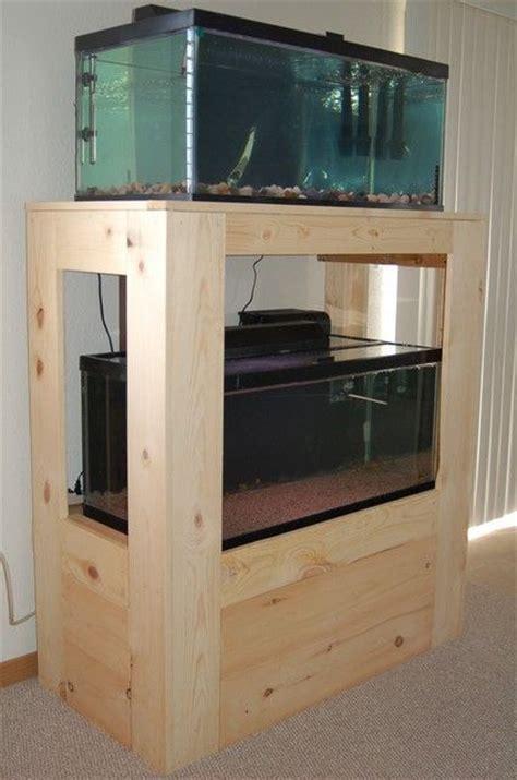 diy fish tank stand  gallon breeder woodworking