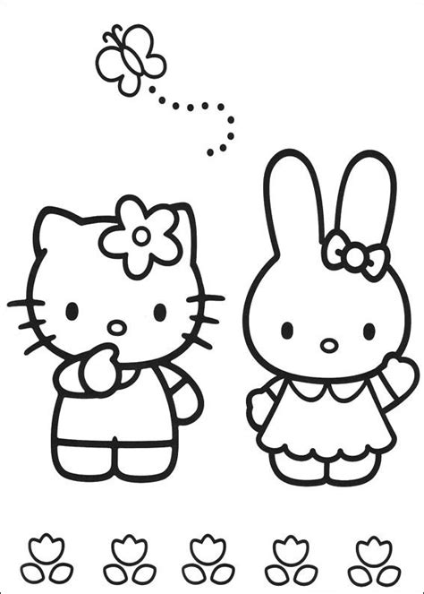 coloring pictures of hello kitty and her friends friendship s day coloring part 11