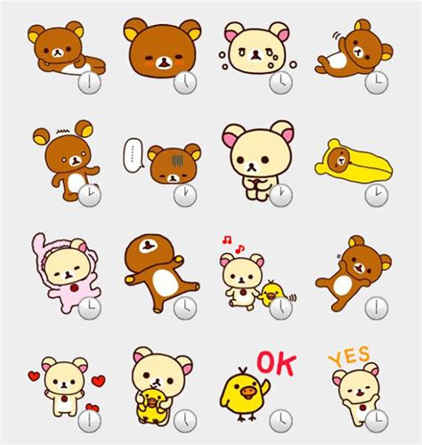 Rilakkuma Stickers rilakkuma stickers set telegram stickers telegram