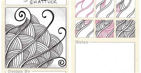 Zentangle Pattern Shattuck | beez in the belfry tangle of the week shattuck