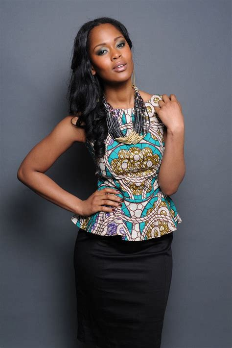 pinterest african skirts and tops styles african tribal print peplum top african prints african