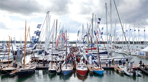 boat show today uk more than 100 sail boats head for southton boat show