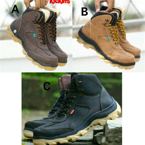 Sepatu Kickers Boots Safety jual sepatu boots pria kickers new safety di lapak toko