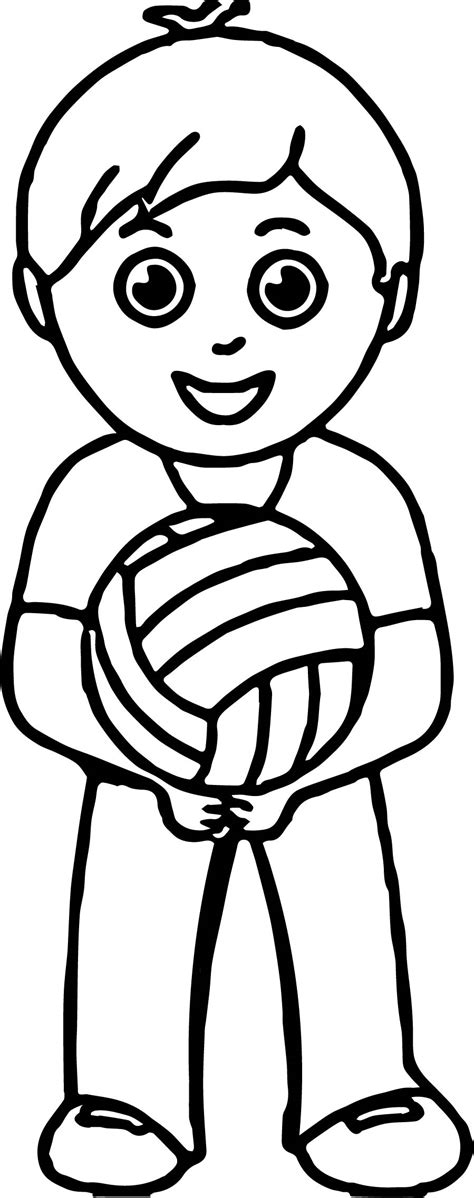 boy playing coloring page boy playing volleyball coloring pages wecoloringpage