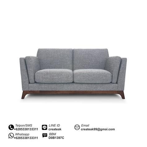 Stool Sofa Vintage Klasik Denim sofa vintage 2 dudukan createak furniture createak