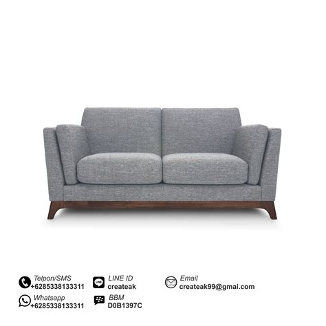 Sofa Sekarang sofa vintage 2 dudukan createak furniture createak