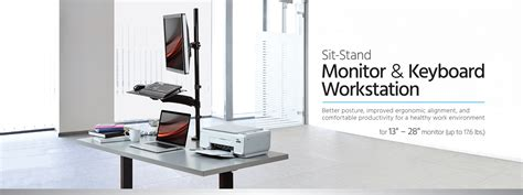 monoprice sit stand desk review monoprice sit stand monitor and keyboard workstation