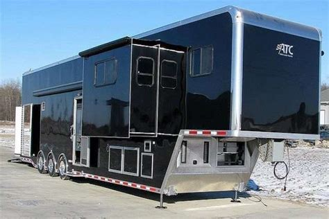 Kitchen Cabinets Standard Sizes by Car Hauler Race Trailers With Living Quarters Mo Great