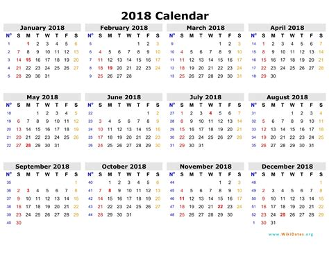 Calendar 2018 Weekly Weekly Calendar 2018 Weekly Calendar Template
