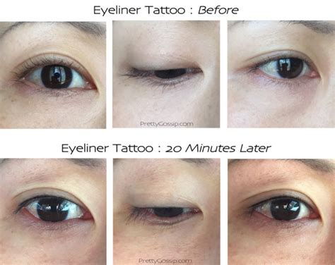 eye liner tattoo tattooed eyeliner before and after www imgkid the