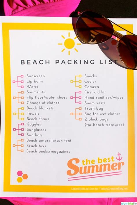 12 beach vacation packing list outline research paper
