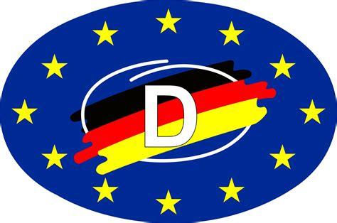 Flaggen Aufkleber Shop by Aufkleber Europa D Mit Flagge Dimension 40 X 75 Mm